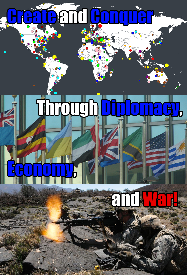 Create and Conquer through Diplomacy, Economy, and War!