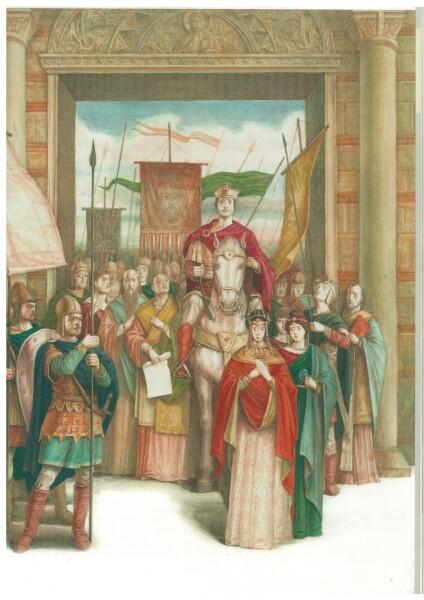 Augustus Flavius Aetius holds a Triumph in the Captial.