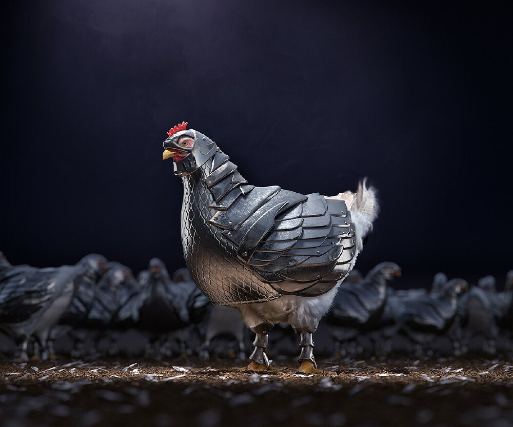 Citizens of North Pacifica irate over Armored Chickens according to new survey